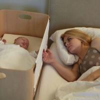 Bednest Mum & bub touching
