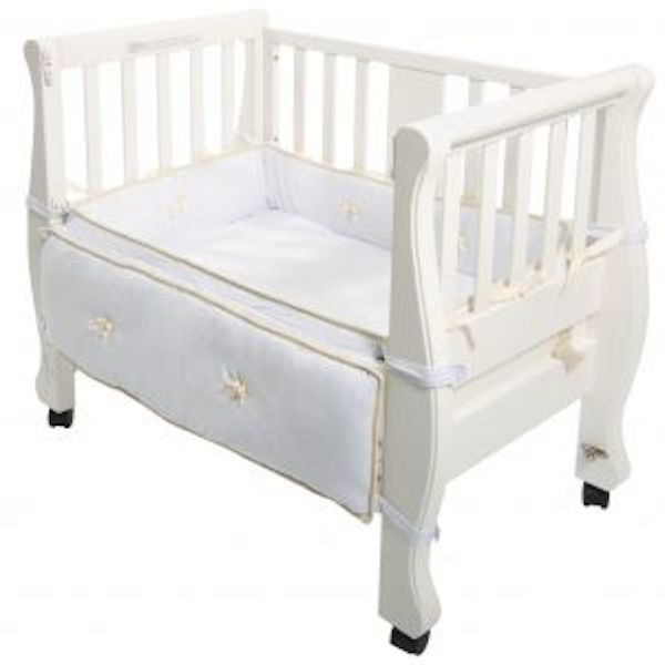 Arm 39 s reach sleigh bed co sleeper birth partner for Furniture afterpay