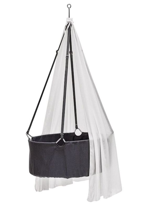 leander cradle canopy mattress nubie grey moses