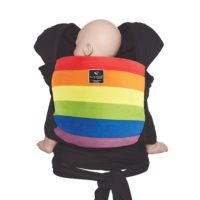 hugabub organic baby wrap carrier rainbow
