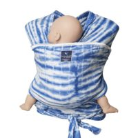 hugabub organic lighweight wrap baby carrier watercolour blue