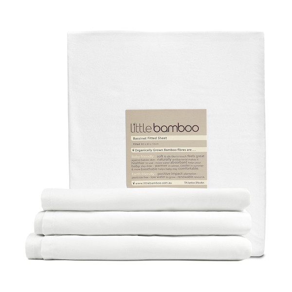 little bamboo bassinet fitted sheet