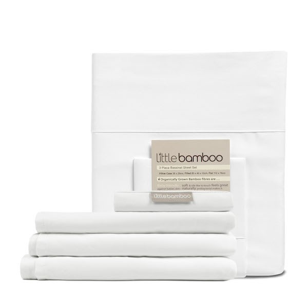 little bamboo bassinet sheet set