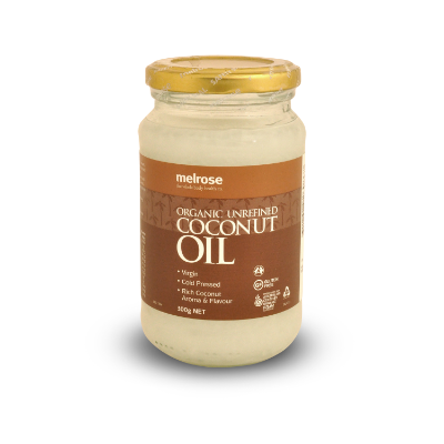 melrose organic coconut oil, unrefined 300g