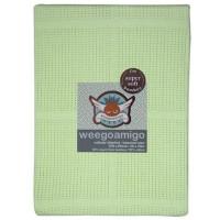 Weegoamigo Cellular Baby Blanket lime