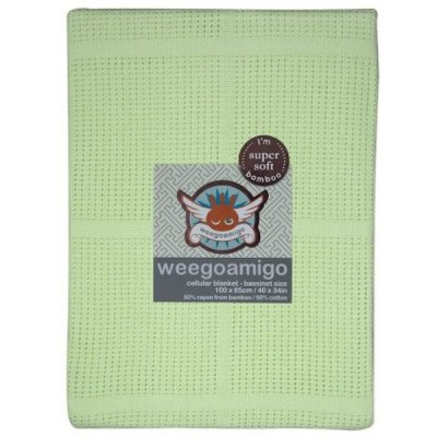 Weegoamigo Cellular Baby Blanket lime
