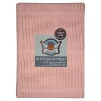 Weegoamigo Cellular baby Blanket melon