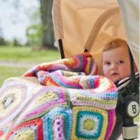 Weegoamigo Crochet Baby Blanket Nora in pram
