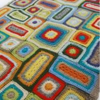 Weegoamigo Crochet Baby Blanket Rupert angle
