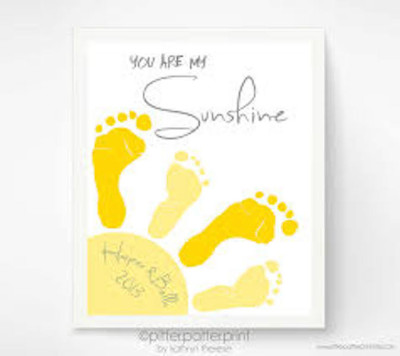 baby footprint art 3