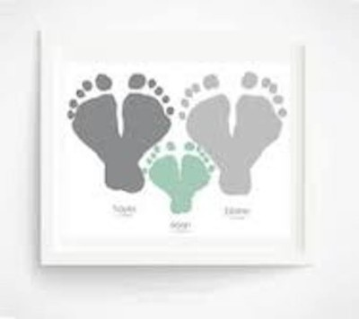 baby footprint art 7