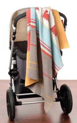 Weegoamigo Knitted Blanket - dino convoy