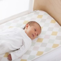 olli ella harlequin sheet for bednest with baby