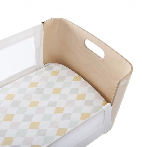 Olli Ella Bednest Fitted Sheet Harlequin Yellow