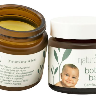 Nature's Child Bottom Balm 45g open jar
