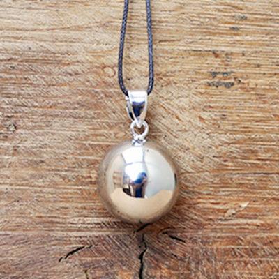 Silver Mexcian Bola Harmony Ball Necklace