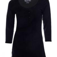 SRC essentials 3/4 sleeve breastfeeding top black