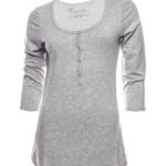 SRC essentials 3/4 sleeve breastfeeding top grey