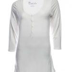 SRC essentials 3/4 sleeve breastfeeding top white