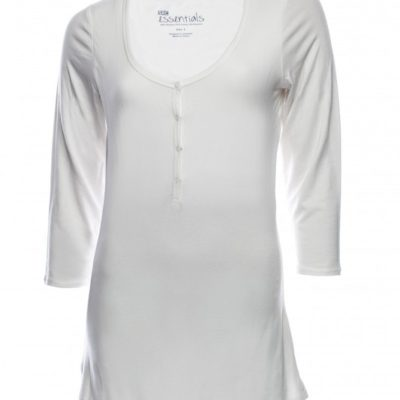 SRC essentials 3/4 sleeve breastfeeding top white