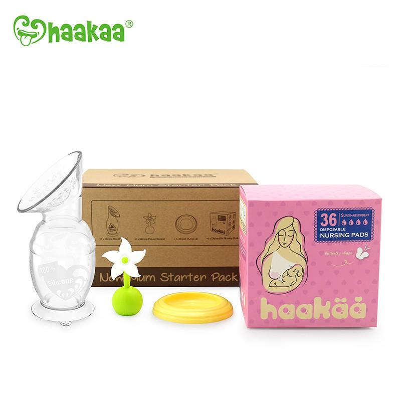 51e7f42368c63 New Mum Silicone Breast Pump Starter Pack from Haakaa - Birth Partner
