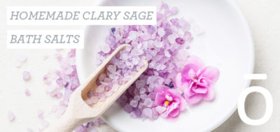 home made clary sage bath salts