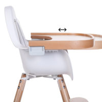 evolu 2 high chair natural timber wooden tray
