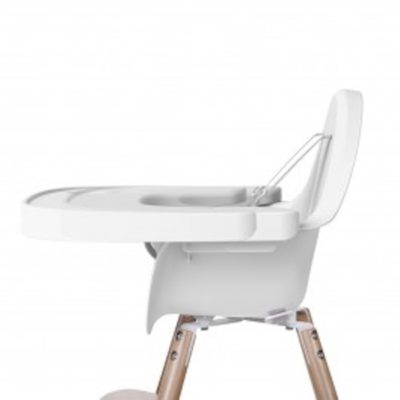 evolu 2 high chair tray white