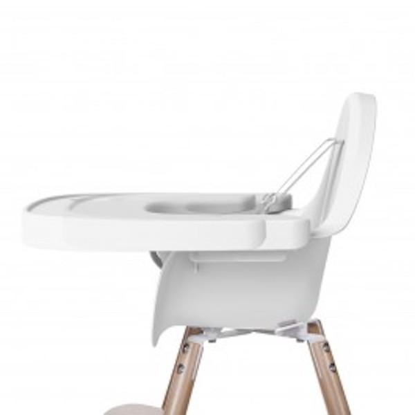 evolu 2 high chair tray white