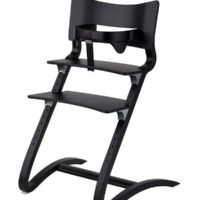 leander high chair black with safety bar black