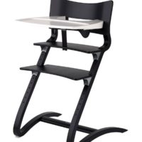 leander high chair black with tray
