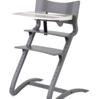 leander high chair grey with tray