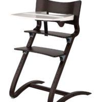 leander high chair walnut with tray 2