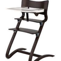 leander high chair walnut with tray