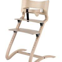 leander high chair whitewash with safety bar