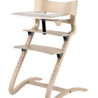 leander high chair whitewash with tray