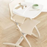 leander high chair with tray lifestyle
