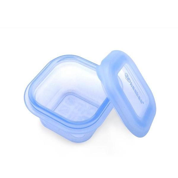 haakaa silicone breastmilk and food storage containers