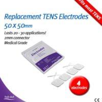 Bodyclock TENS electrode pads 50 x 50
