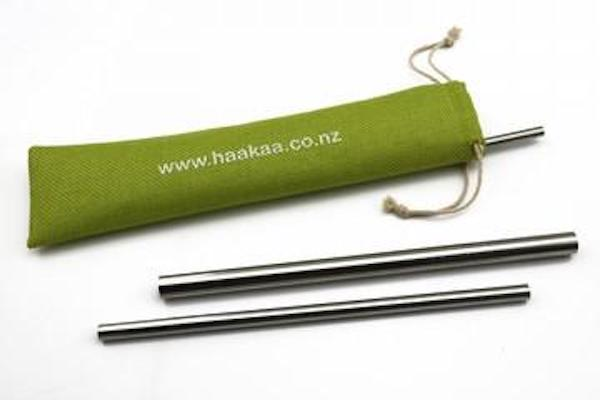 haakaa stainless steel straws with bag