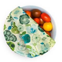 honeybee wraps reusable beeswax wrap large lifestyle tomatoes