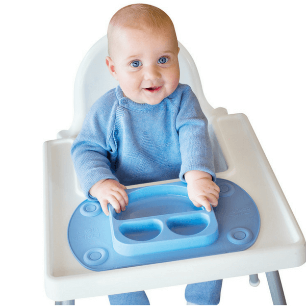 Easymat Travel Suction Plate – blue