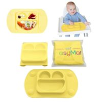 Easymat Travel Suction Plate – buttercup