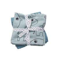 Done by Deer Baby Swaddle Contour – Blue