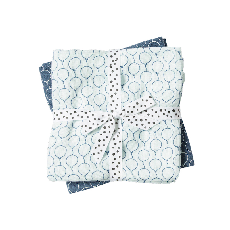 Done by Deer Baby Swaddle Balloon design - blue